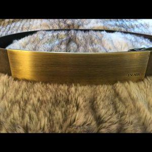 Vintage Escada Suede Olive Green Belt